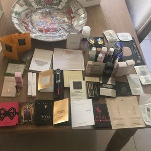 Huge luxury fragrance skincare sample bundle